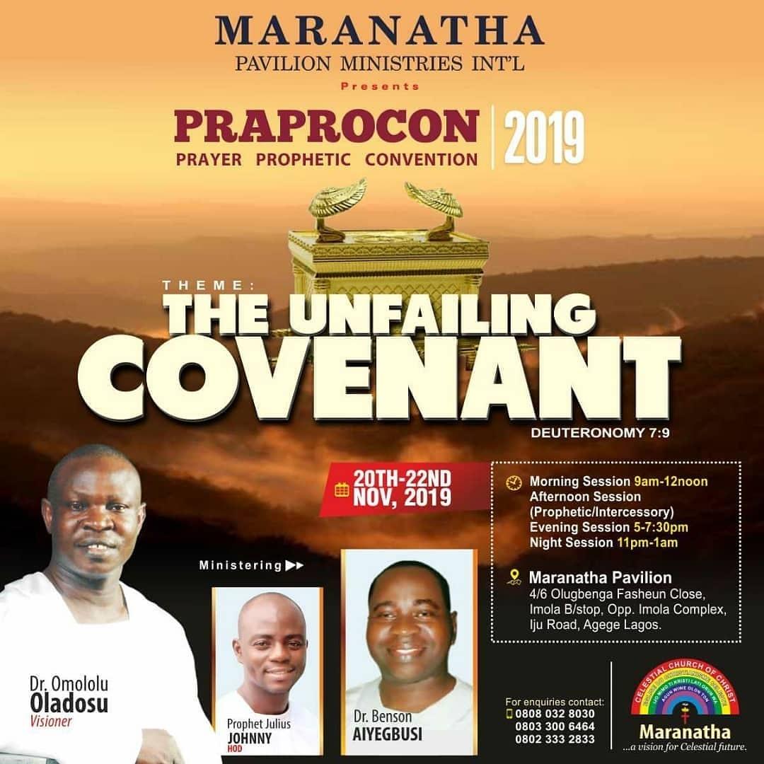 maranatha prayer prophetic convention 2019